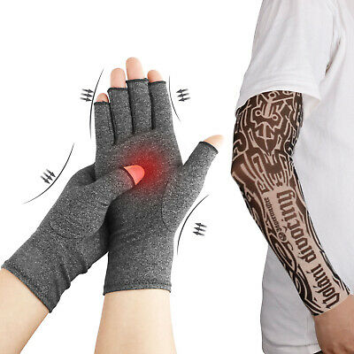 Arthritis Compression Gloves Joint Carpal Tunnel Hand Brace Support+Arm Sleeves