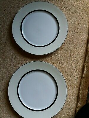 Marks And Spencer Manhattan Cream Salad Plates X 2 Multiples