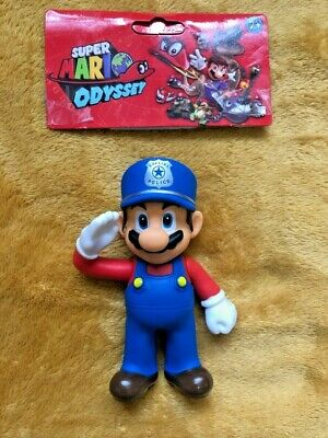 "Super Mario 5"" Action Figure - Super Mario Odyssey Police Officer Outfit -SEALED"
