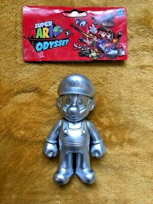 "Super Mario 5"" Action Figure - Super Mario Odyssey Silver Metal Outfit -SEALED"