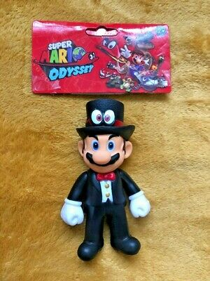 "Super Mario 5"" Action Figure - Super Mario Odyssey Black Tuxedo Outfit - SEALED"
