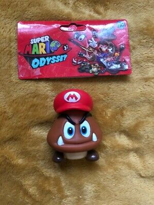 "Super Mario 5"" Action Figure - Super Mario Odyssey Goomba with Cappy - SEALED"