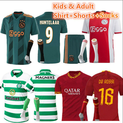 19-20 Soccer Home Red/ Away Blue Football Kits Adults/Kids Jersey Strip Outfits!