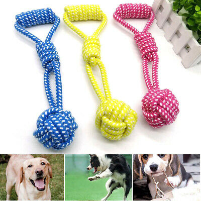 Strong Tough Pet Dog Chewing Toy Cotton Rope Knots Puppy Teeth Cleaning Toys Uk