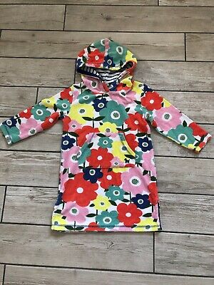 Girls Mini Boden towelling beach dress age 4-5 Years flowers Swimming Holiday