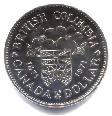 1971 Proof-Like Canadian British Columbia Centennial One Dollar Coin - Canada