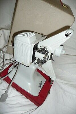 Cine film projector NILUS 8mm + wooden carry case EXCELLENT museum quality