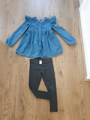 Stunning Girl's Tu Denim Top and Next Leggings holiday outfit age 5 - 6 years