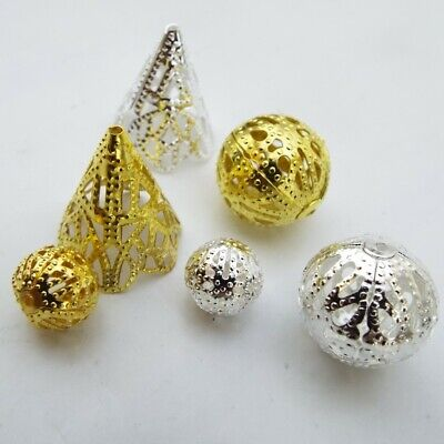Silver Gold Filigree Bead And Caps Cones Spacers Jewellery Findings BUY 10g 20g