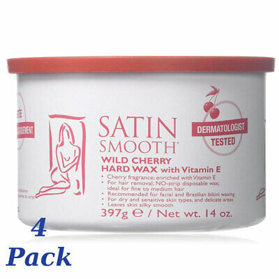 Satin Smooth Wild Cherry Hard Wax 14 oz. (4 Pack)