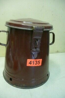 4135. Alter Emaille Email Topf Vorratstopf Old enamelware pot
