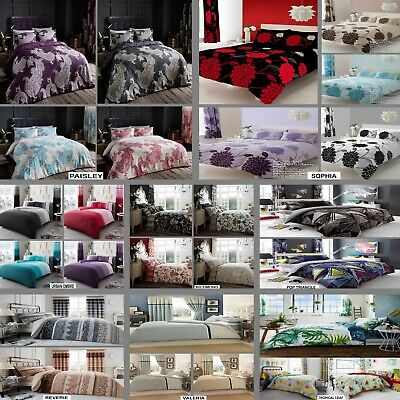 Luxury Duvet/Quilt Cover Set Matching Pillow Case Single Double King S-King