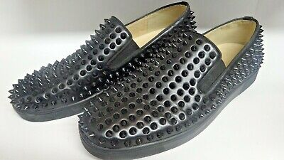 save up to 80% special section retail prices CHRISTIAN LOUBOUTIN ROLLER Boat Spike Black Flats Size 43 ...
