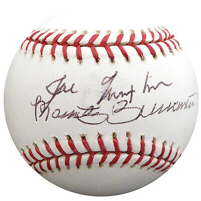 Joe Nuxhall & Marty Brennaman Autographed MLB Baseball Reds Beckett H75132