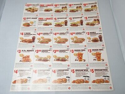 25 Burger King Coupons August September (Exp. 9/22/2019)
