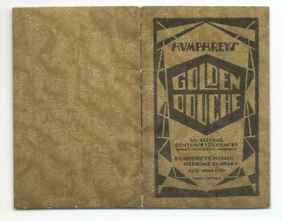 Humphreys' Homeo Medicine Co.~Golden Douche Instruction Booklet~1929