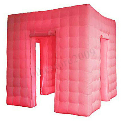 3 Door Inflatable LED Photo Booth Lighting 2.5M Tent Wedding Party Events Cube