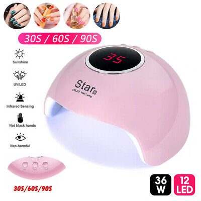 36W LED UV Nail Polish Dryer Lamp Gel Acrylic Curing Light Spa Professional Kit