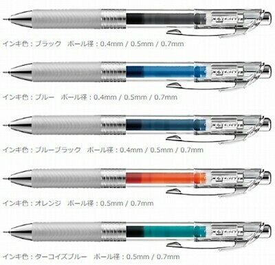 NEW Pentel Energel inflee Ball Point Pen 5 color 0.4mm 0.5mm 0.7mm japan