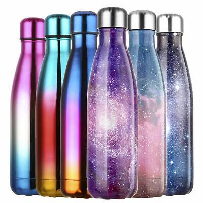 500ML Stainless Steel Water Bottle Vacuum Insulated BPA Free Fitness Sport Flask