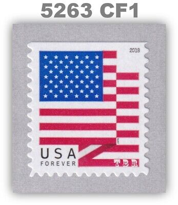 5263 (CF1) Postal Counterfeit US Forever Flag DS Pane Single 2018 MNH - Buy Now