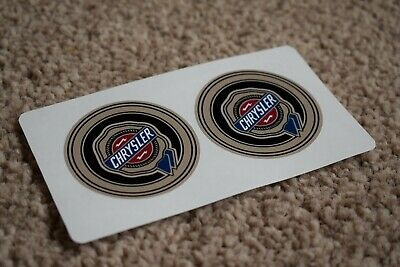 CHRYSLER Racing Motorsport Race Rally Car Race Decal Stickers Rounded Gold 100mm