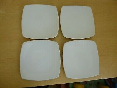 """4 Marks & Spencer Andante Square 8.5"""" Plates - M&S"""
