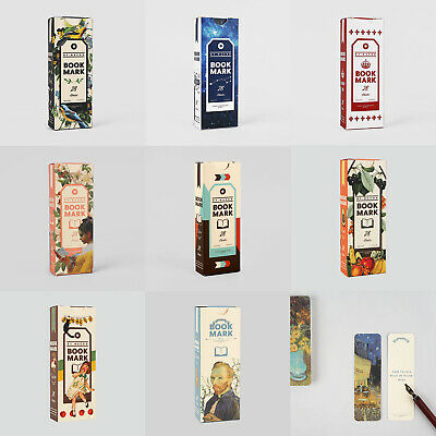 Bookmark Pack 28EA Illustrated Book Marker Index Stationery Reading Gift Craft