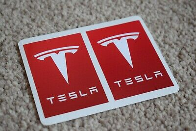 Tesla Motors Racing Rally Motorsport Race Car Decal Stickers Badge Logo Red 100m