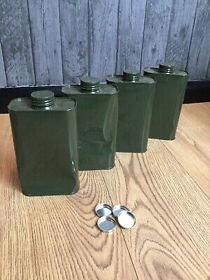 Army Green Metal Motor Oil Storage Can Bundle