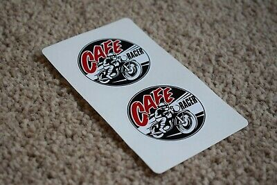 CAFE RACER Motorcycle Motorbike Bike Cycle Helmet Racing Decal Stickers 100mm