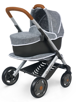 SMOBY 253104 Maxi-Cosi Quinny Grey Felted 3 in 1 Trolley