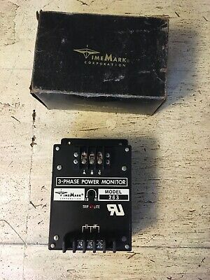 Time Mark 3 Phase Power Monitor 120 Vac Contact Model C263