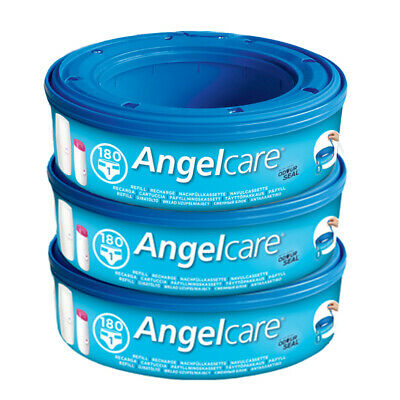 Angelcare Nappy Disposal System Refill Cassettes Bag Sacks Pack