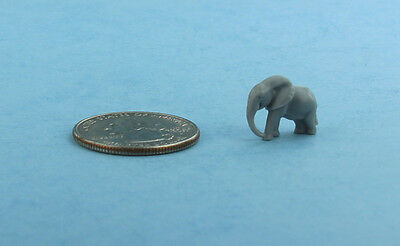CUTE! 1:12 Scale Dollhouse Miniature Tiny Grey Elephant Toy/Figurine #SD75078