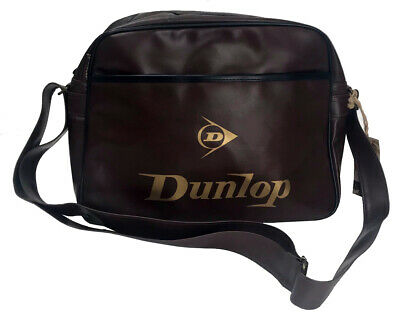 FLIGHT DUNLOP QUILTED MESSENGER SHOULDER BAG BURGUNDY BNWT RECORD