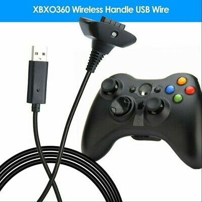 2-Color USB Charging Cable Sync Lead Cord for Xbox 360 Wireless Game Controller
