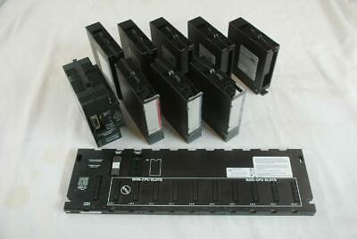 GE Fanuc 10 Slot Chassis w/ IC693PWR321U Power Supply - I/O - Relay - Fillers