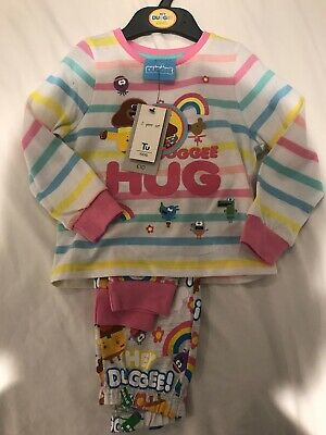 1.5-2 Years Hey Duggee Girls Pyjamas New With Tags TU 18-24 Months