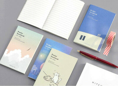 Mini Pocket Notebook Ver.2 [Line] Free Journal for Study Memo Travel Art Sketch