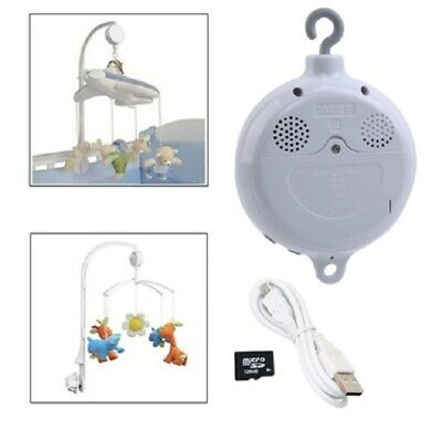 Song Rotary Baby Bed Bell Clockwork Mobile Crib Toy Music Movement Intant Hook