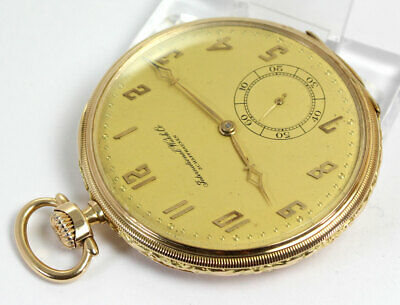 Superb International Watch Co SCHAFFHAUSEN Cal.73 IWC Gold 14K Fraсkuhr ca.1925