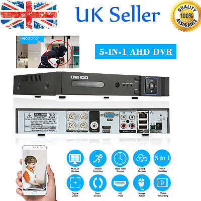 OWSOO 1080P 5-in-1 Digital Video Recorder DVR CCTV Security NVR AHD TVI uk E0G9