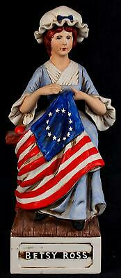 McCormick BETSY ROSS American Porcelain Decanter EMPTY