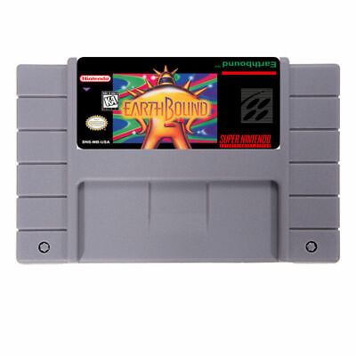 EARTHBOUND SNES Super Nintendo US NTSC earth bound mother 3 usa