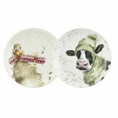 Wrendale By Royal Worcester - Cow and Duck Coupe Plates