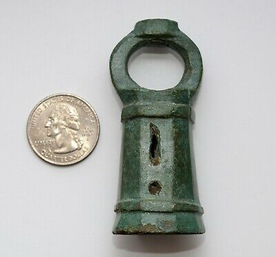 12 Century Antique Bronze Artifact Unknown Purpose Nice Green Patina