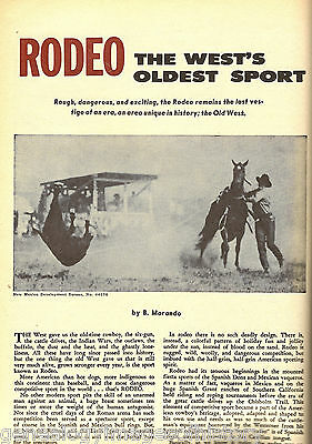Rodeo, The West's Oldest Sport + Cowhand Genealogy