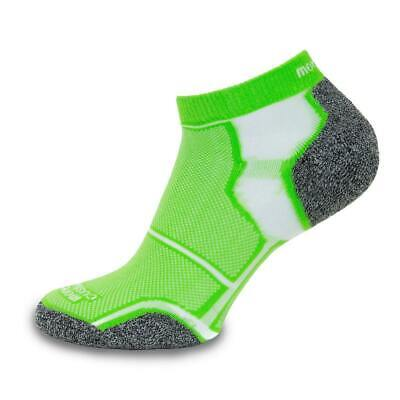 More Mile New York Running Socks Green Mens Womens Cushioned Sports Trainer Sock