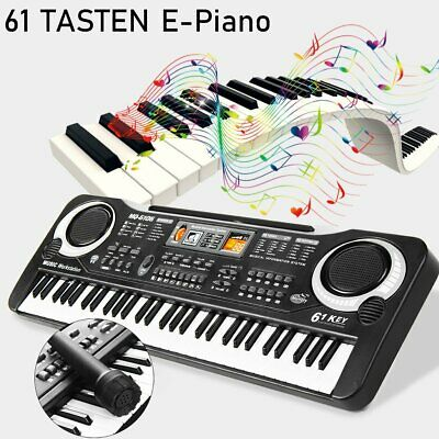 Digital 61 Tasten Keyboard E-Piano Klavier 16 Sounds & 10 Rhythmen Recording DHL